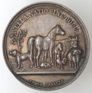 reverse: Medaglie. Torino. Ag. D/ SOCIETA  ZOOTECNICA TORINO. 1910 .