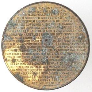 reverse: Medaglie. Germania. Guglielmo II. 1888-1918. Medaglia 1914. Ae.