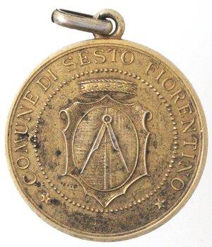 obverse: Medaglie. Periodo Fascista. Sesto Fiorentino. Medaglia. Battaglia del Grano. Ag Dorato.