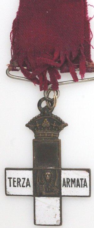 obverse: Medaglie. Periodo Fascista. Guerra 1915-1918. Croce. Terza Armata. Ae e Smalto.