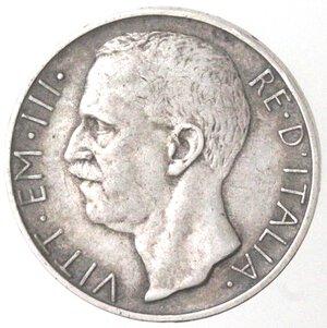 obverse: Vittorio Emanuele III. 1900-1943. 10 lire 1927 Biga due rosette. Ag.
