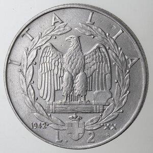 reverse: Vittorio Emanuele III. 1900-1943. 2 Lire Impero 1942 Anno XX. Ac.