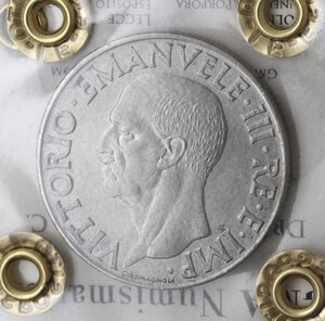obverse: Vittorio Emanuele III. 1900-1943. Lira Impero 1943 anno XXI. Ac.