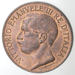 obverse: Vittorio Emanuele III. 1900-1943.10 Centesimi 1911 Cinquantenario. Ae.