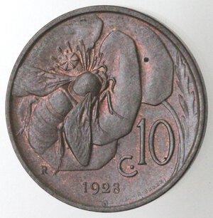 reverse: Vittorio Emanuele III. 1900-1943.10 centesimi 1928 Ape. Ae.