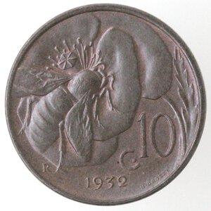 reverse: Vittorio Emanuele III. 1900-1943.10 centesimi 1932 Ape. Ae.