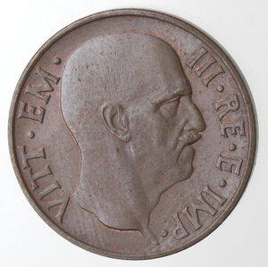 obverse: Vittorio Emanuele III. 1900-1943. 5 centesimi 1936 Anno XIV Impero. Ae.
