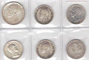 obverse: Vittorio Emanuele III. 1900-1943.Lotto di 6 monete. 10 Lire 1927, 5 Lire 1928 (2 pz.), 5 Lire 1936, Lira 1915 e Lira 1902. Ag.