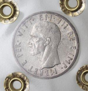 obverse: Vittorio Emanuele III. 1900-1943.Albania. 5 Lek 1939. Ag.