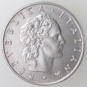 obverse: Repubblica Italiana. 50 Lire 1955 Vulcano. Ac.