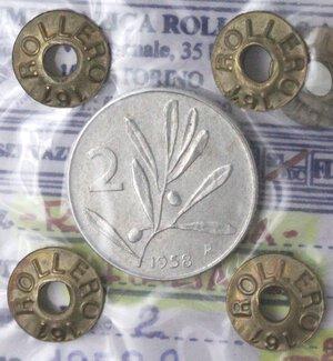 reverse: Repubblica Italiana. 2 Lire 1958. It. Gig. 334. qFDC. Periziata
