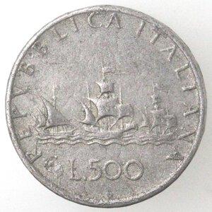 reverse: Repubblica Italiana.500 Lire 1961? Caravelle. MB.