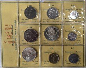 obverse: Repubblica Italiana. Serie divisionale 1970. 9 valori con 1000 Lire e 500 Lire. Ag.