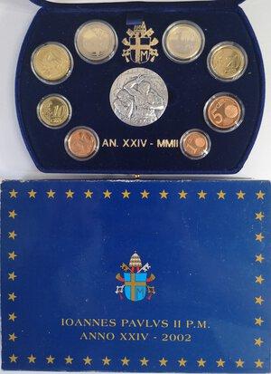 obverse: Vaticano. Giovanni Paolo II. 1978-2005. Serie divisionale 2002. 9 monete.