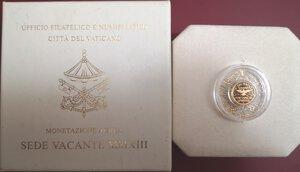 obverse: Vaticano. Sede Vacante 2013. 10 Euro 2013 commemorativi. Au.