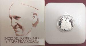 obverse: Vaticano. Francesco. 2013-Regnante. 5 Euro 2013 commemorativi dell Inizio del Pontificato di Francesco.