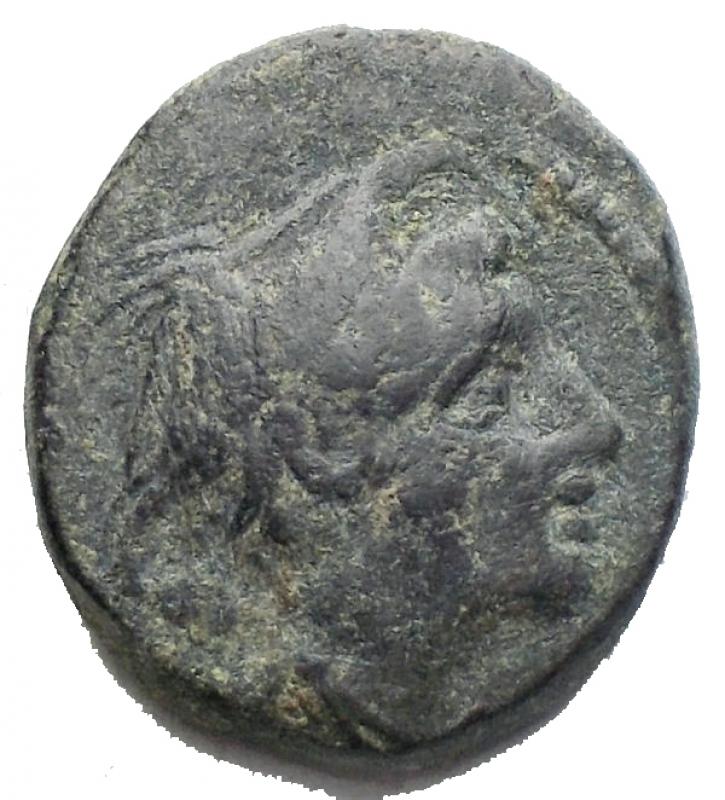 obverse: Repubblica Romana - Semuncia. ca 214-212. D/ Testa di Mercurio a destra. R/ Prua a destra; sopra ROMA - spiga di grano. Cr. 42/5 AE. g 4,28. BB