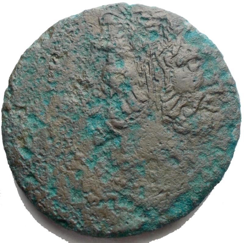 obverse: Repubblica Romana - Serie L. Asse, ca. 211-208 a.C. Luceria. D/ Testa laureata di Giano. R/ Prua a destra. Sopra, I. In esergo: ROMA. Cr. 99/22a. AE. g 24,4. mm 31,1. MB-qBB