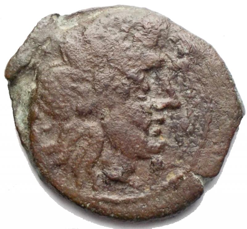 obverse: Repubblica Romana - Anonime(AT or TA series ??). Semisse. Roma 169-158 aC. (RRC), 172-151 BC (BMCRR), AE, g 7,38. mm 25,2. d/ Saturno a ds r/ Prua a ds. Sopra AT or TA ??, sotto ROMA. RRC 191/2; BMCRR Rome -; Sydenham 372a. Very rare. aVF