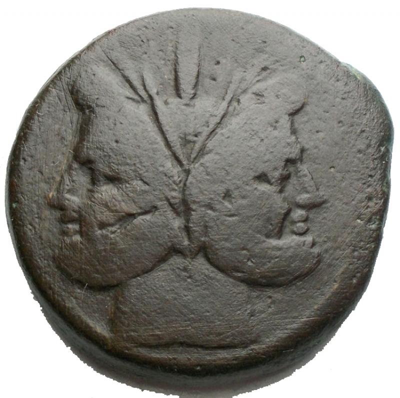 obverse: Repubblica Romana - Asse  Ae da catalogare Peso g 31,27. Diametro mm 31,3 x 30,9. BB-BB+