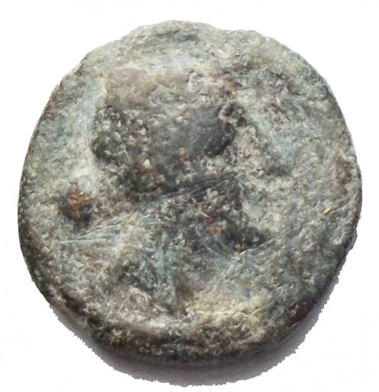 obverse: Mondo Greco - Apulia, Luceria. Semuncia, 211-200 a.C. D/ Testa di Artemide a destra. R/ Crescente. HN(Italy) 683. AE. g. 2.13 mm 12. BB