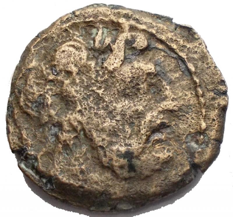 obverse: Repubblica Romana - Gens Curtia. 169-158 a.C. Semisse. D/ Testa di Saturno a destra. R/ C CVRT F Prua a destra. Davanti ancora. Cr. 240/3. Peso 7,3 gr. Diametro 21,2 mm. qBB.