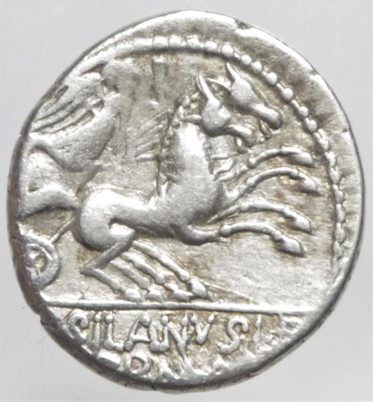 reverse: junia denario