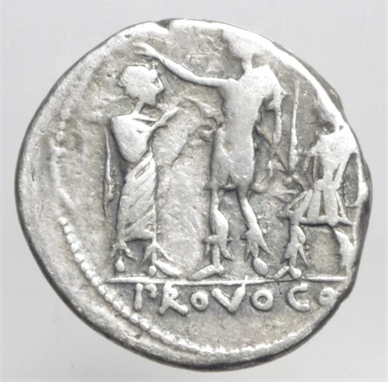 reverse: porcia denario