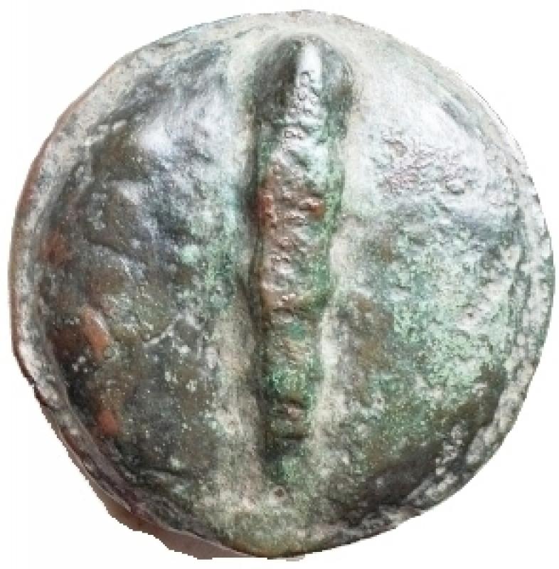obverse: Mondo Greco - Apulia. Luceria Quatrunx. ( Ae 80,42 g ) Circa 269-225 ac. d/ Fulmine r/ Clava. Haeberlin pl. 70, 10-11. qBB. Raro
