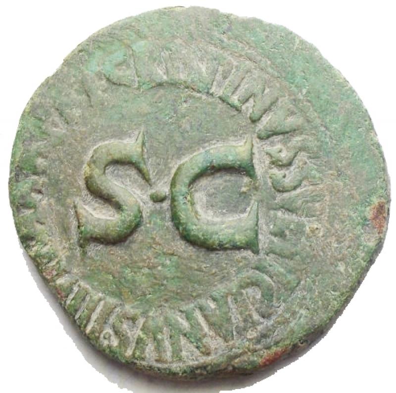 obverse: Impero Romano - Augusto. Monetari. Asse Ae. gr 6,57. mm 25,6. Bella patina