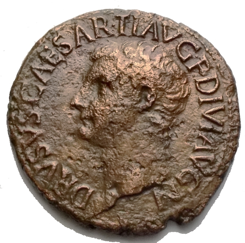 obverse: Impero Romano - Druso, figlio di Tiberio (deceduto nel 23 d.C.). Asse. D/ DRVSVS CAESAR TI AVG F DIVI AVG N. Testa nuda a sinistra. R/ PONTIF TRIBVN POTEST ITER intorno a grande SC. RIC (Tib.) 45. AE. g 10,24. mm 28,4. BB+