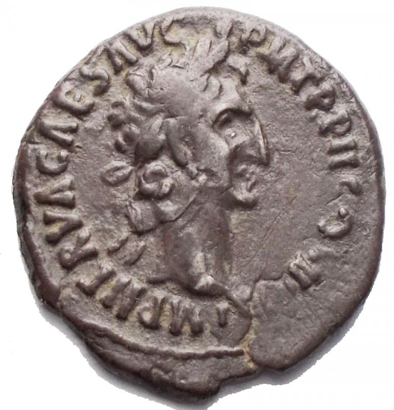 obverse: Impero Romano - Nerva 96-98. Denario ca. 97 d.C. D/ [IMP NERVA C]AES AVG P M TR P II COS II P P. Testa laureata a destra. R/ AEQVITAS AVGVST. Aequitas stante a sinistra, tiene bilancia e cornucopia. AG. g 3,23. mm 18,2 x 19,4. BB+. Patina