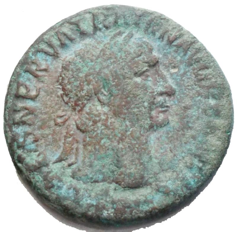 obverse: Impero Romano - Traiano. 98-117 d.C. Asse. d/ Testa laureata di Traiano verso destra r/ Vittoria Alata con Scudo verso sinistra / S-C. Peso 11,77 gr. Diametro 26,86 mm. qBB