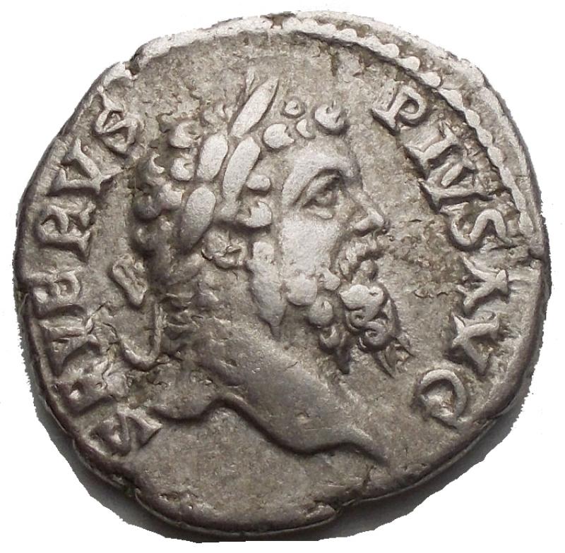 obverse: Impero Romano - Septimius Severus (193-211) - AR Denarius (Rome Ad 205. 3.72 g. 18.4mm) - Laureate head right / PM TRP XIII COS III PP Jupiter standing left holding thunderbolt and sceptre (eagle below to left) (RIC 196 / RSC 469) - VF