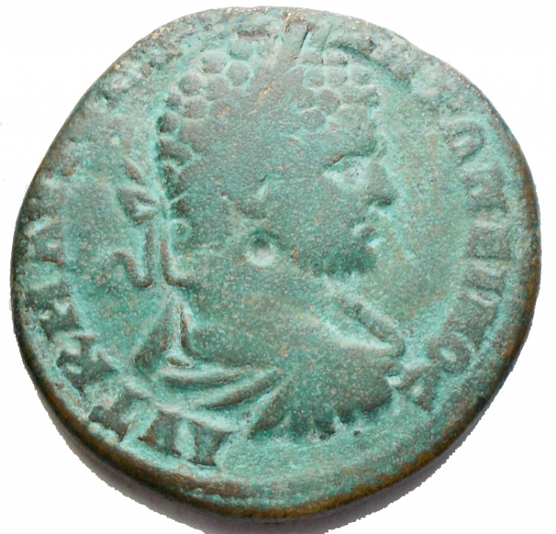 obverse: Impero Romano - Caracalla 198-217. Ae Provincale da catalogare. gr 17,18. mm 29,73. qBB. Patina verde