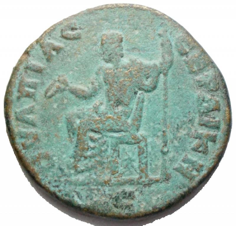 reverse: Impero Romano - Caracalla 198-217. Ae Provincale da catalogare. gr 17,18. mm 29,73. qBB. Patina verde