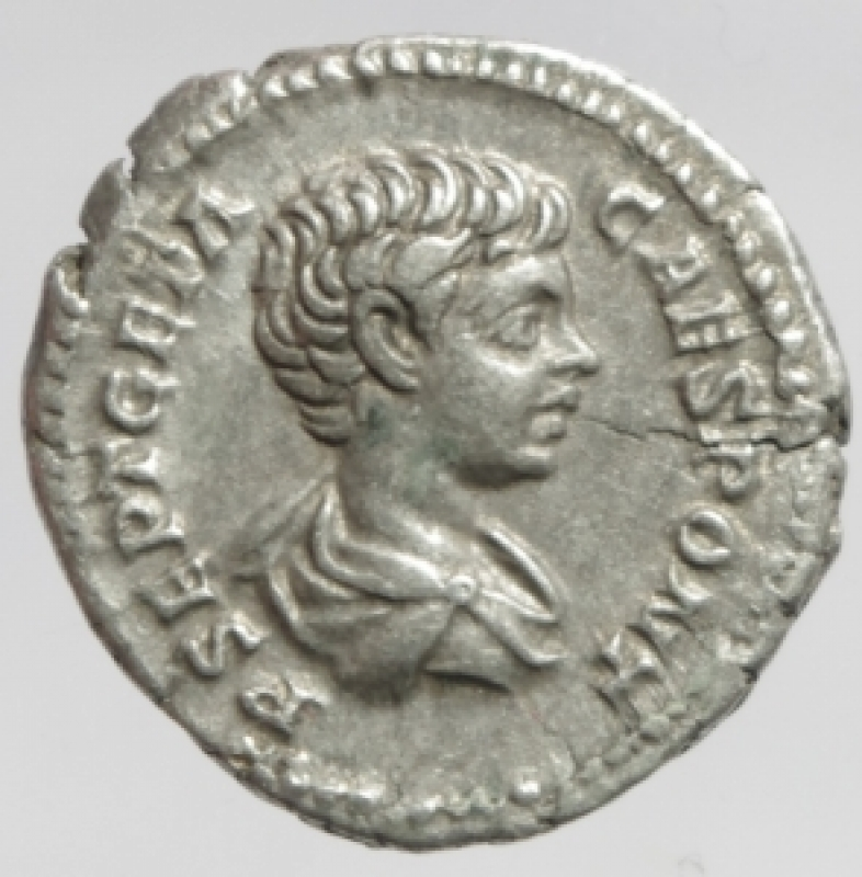 obverse: geta denario