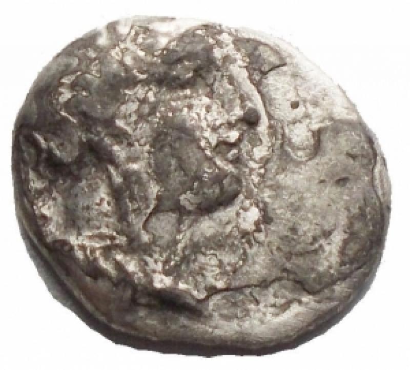 obverse: Mondo Greco - Calabria. Taras. Diobolo Ag. g 0,95. MB-qBB/BB