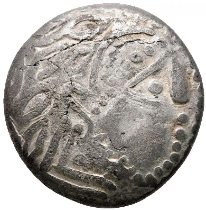 obverse: Monete Celtiche - Europa orientale. Zecca nella regione dei Carpazi meridionali 200-100 a.C. tipo