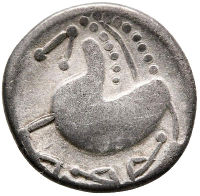 reverse: Monete Celtiche - Europa orientale. Zecca nella regione dei Carpazi meridionali 200-100 a.C. tipo
