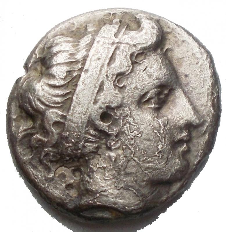 obverse: Mondo Greco - CAMPANIA, Neapolis. 395-385 BC. AR Nomos (17,05 x 17,38 mm. 6,42g). Diademed head of nymph right / Man-headed bull walking left on double exergue-line; above, Nike flying left, placing wreath on bull s head. Rutter 158 (O101/R143); HN Italy 563. aVF/goodF