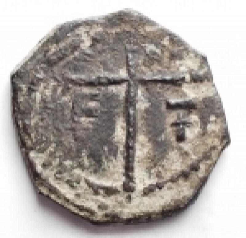 reverse: Oriente Latino -  Antiochia. Tancredi (1101-1112). Follis. MPS 6 Schl. V,1. d/ Santo in piedi r/ Croce gr. 4,18 R. AE. MB-qBB. Patina scura