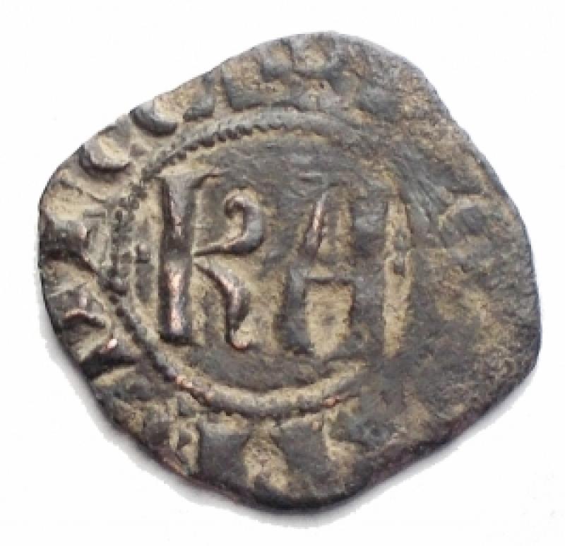 obverse: Zecche Italiane - Brindisi o Messina. Carlo d Angiò (1266-1282). Denaro. D/ Grande K A . R/ Croce. gr 0,86. Rif Sp. 37. MI. BB.