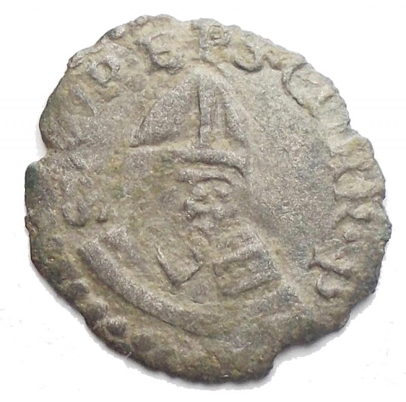 obverse: Zecche Italiane. Correggio. Anonime dei conti Gerolamo, Gilberto, Camillo e Fabrizio (1569-1580). Quattrino. MIR 128. MI. g 0,46. R. BB.