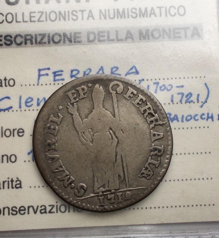 reverse: Zecche Italiane - Ferrara. Clemente XI Muraiola