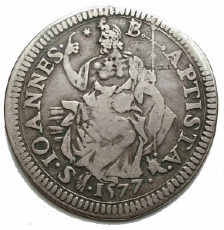 reverse: Zecche Italiane - Firenze. Francesco I De Medici (1574-1587). Testone 1577. MIR 185. Gal. XII, 1/8.CNI XXII, 4. AG. g. 8,66. RR