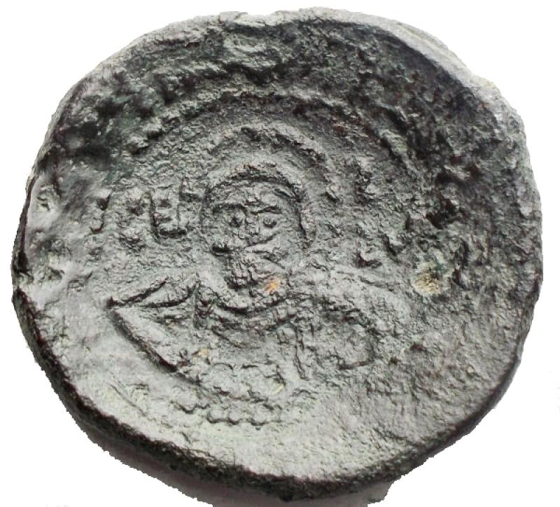 obverse: Zecche Italiane. Messina. Ruggero II (1105-1154). Doppio follaro. AE. gr 6,48. mm 24,2 x 23,2. BB+/qBB. R.