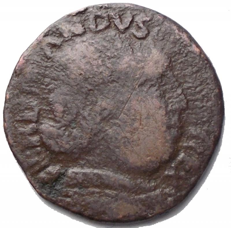 obverse: Zecche Italiane - Napoli. Ferdinando I. 1458-1494. Cavallo. AE. d/ Busto coronato a destra. r/ Cavallo andante verso destra. Sotto la zampa del cavallo A. Peso 1,86 gr. Diametro 17,7 x 18 mm. MB+. R