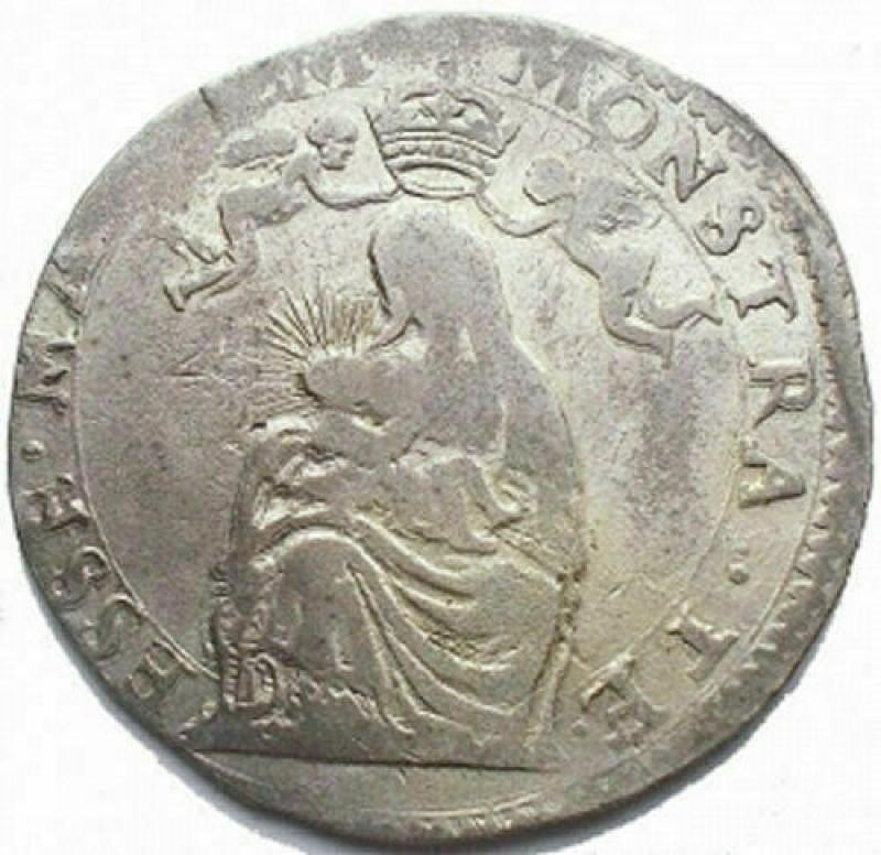 obverse: Zecche Italiane - Parma. Ranuccio II. Quarantano. gr 7,3. Buona argentatura