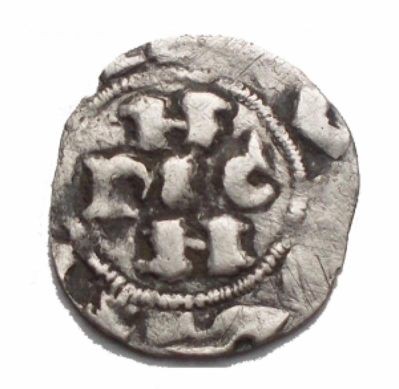 obverse: Zecche Italiane - Pavia. Enrico II di Franconia. 1046-56. Denaro. MIR 836. Peso 0,72 gr. BB.